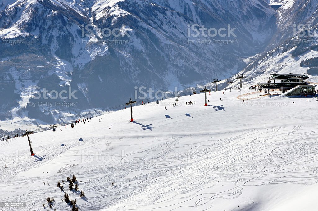 Zell am See ski resort in the Austrian Alps stock photo