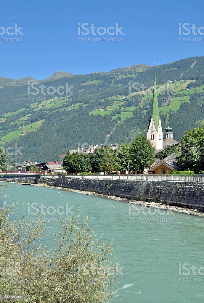Zell am Ziller,Zillertal Valley,Tirol,Austria stock photo