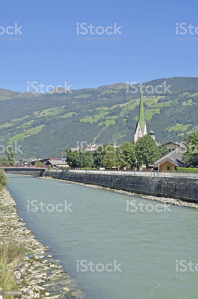 Zell am Ziller,Zillertal,Tirol,Austria stock photo