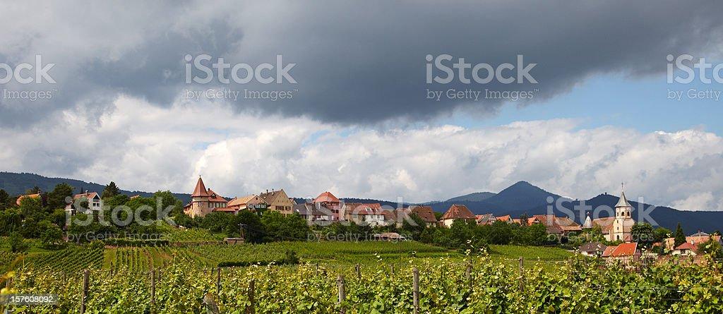 Zellenberg, Alsace stock photo