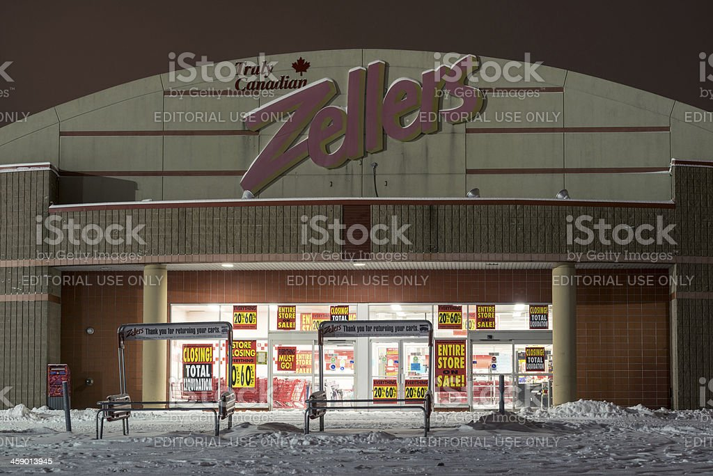 Zellers Store royalty-free stock photo