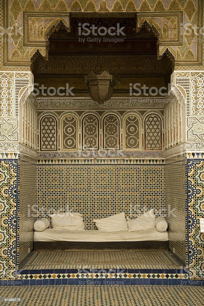 Zellij mosaic and tilework Marrakech. royalty-free stock photo
