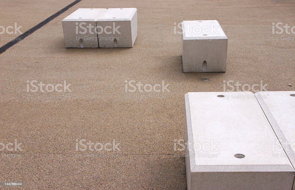 Zen abstract of stones and concrete blocks royalty-free stock photo