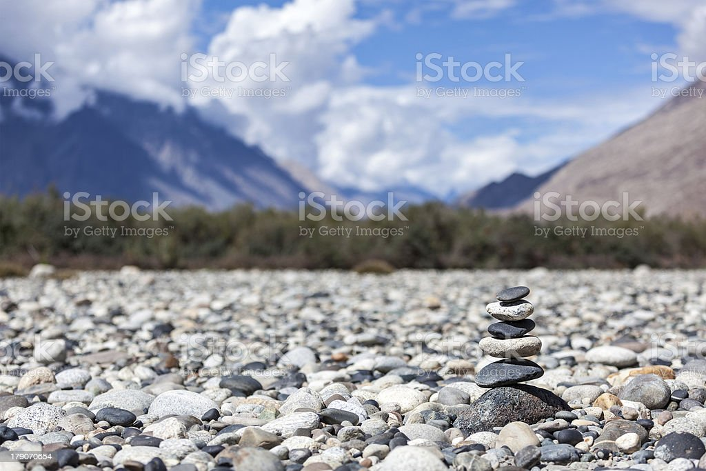 Zen balanced stones stack royalty-free stock photo