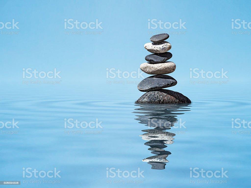 Zen balanced stones stack stock photo