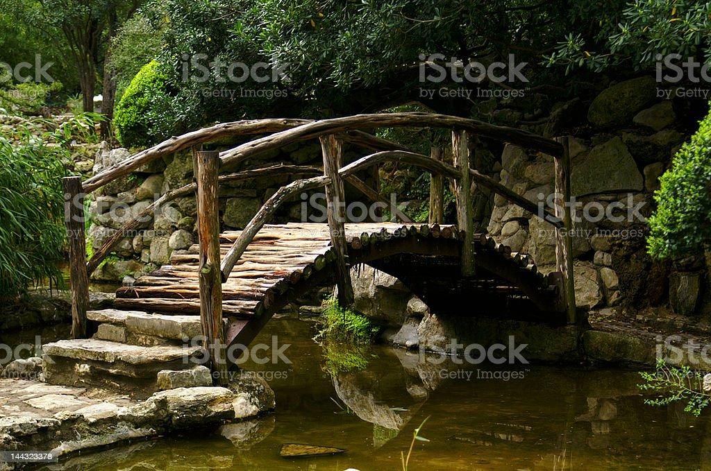 Zen Bridge royalty-free stock photo