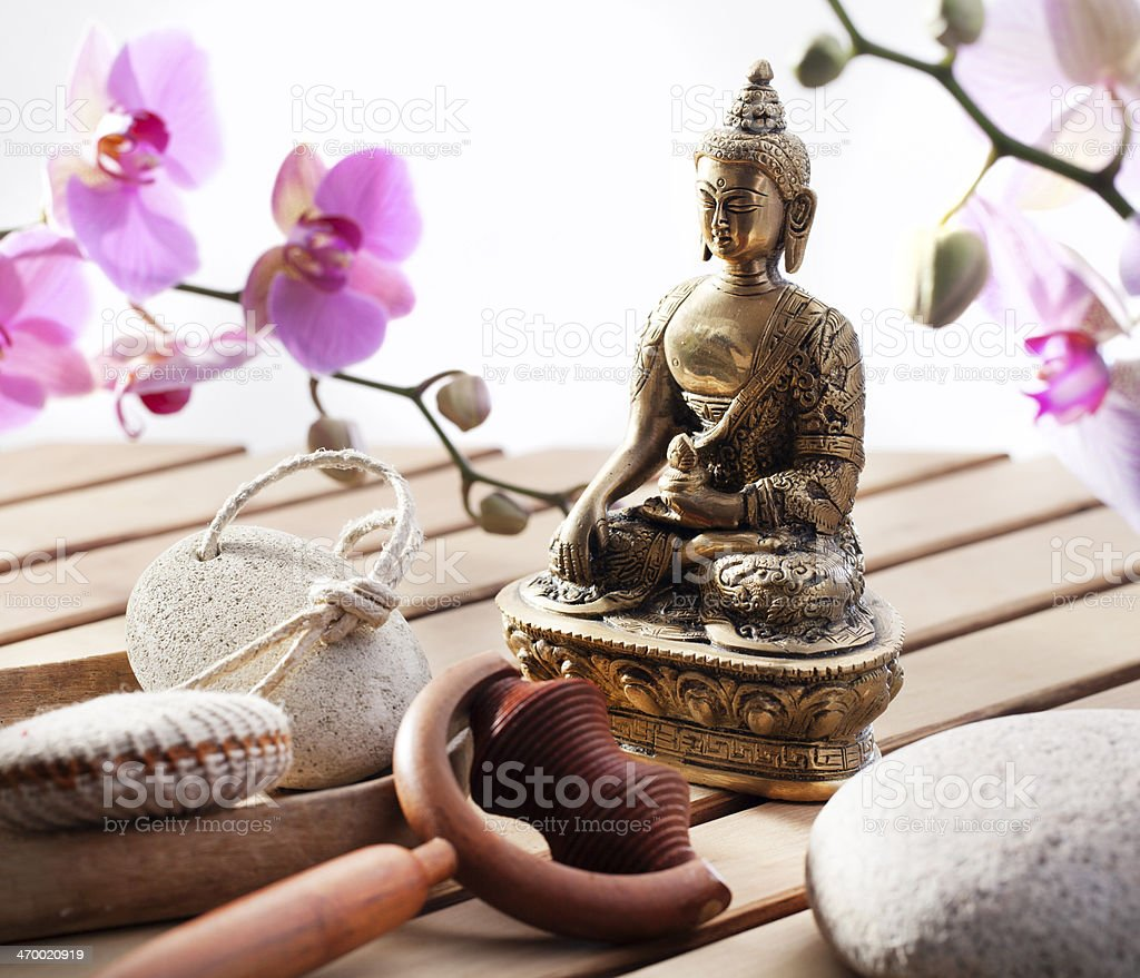 zen Buddha for harmony and serenity royalty-free stock photo