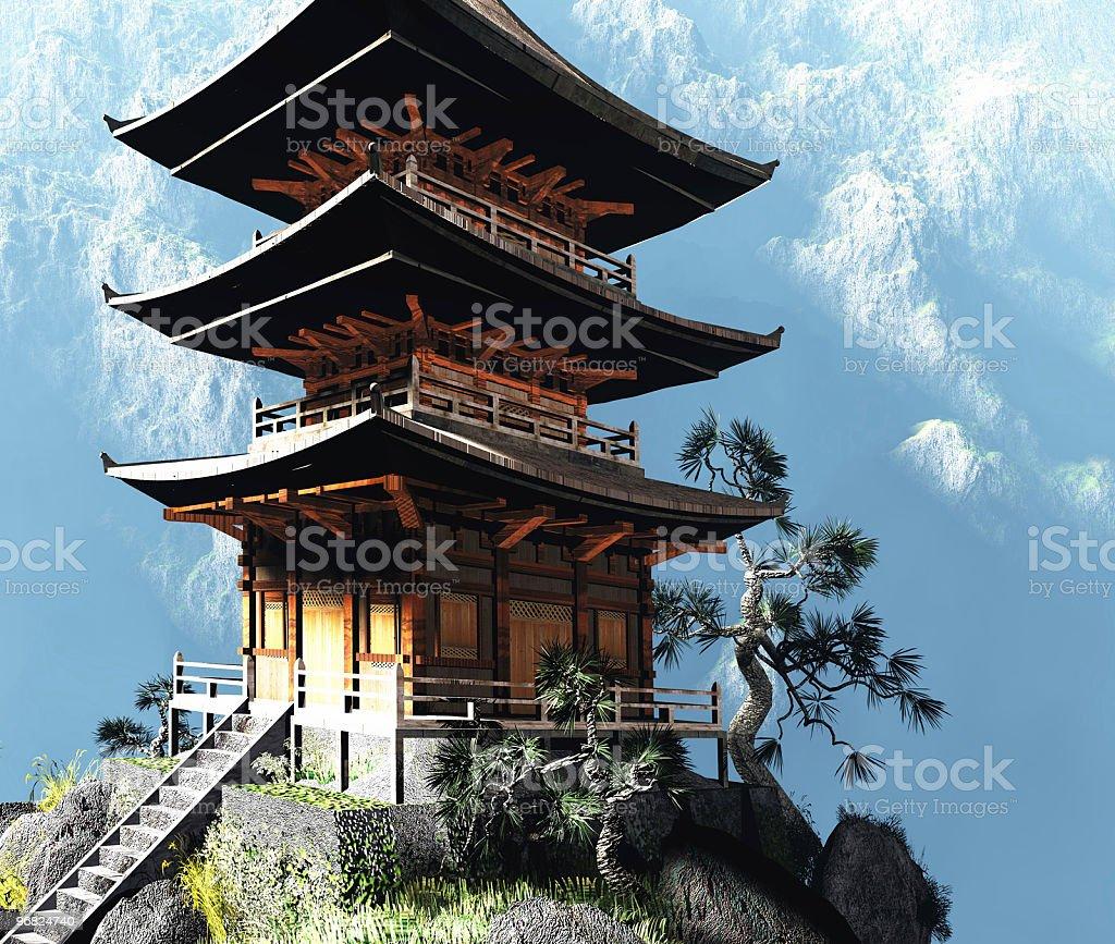 Zen Buddhist temple royalty-free stock photo