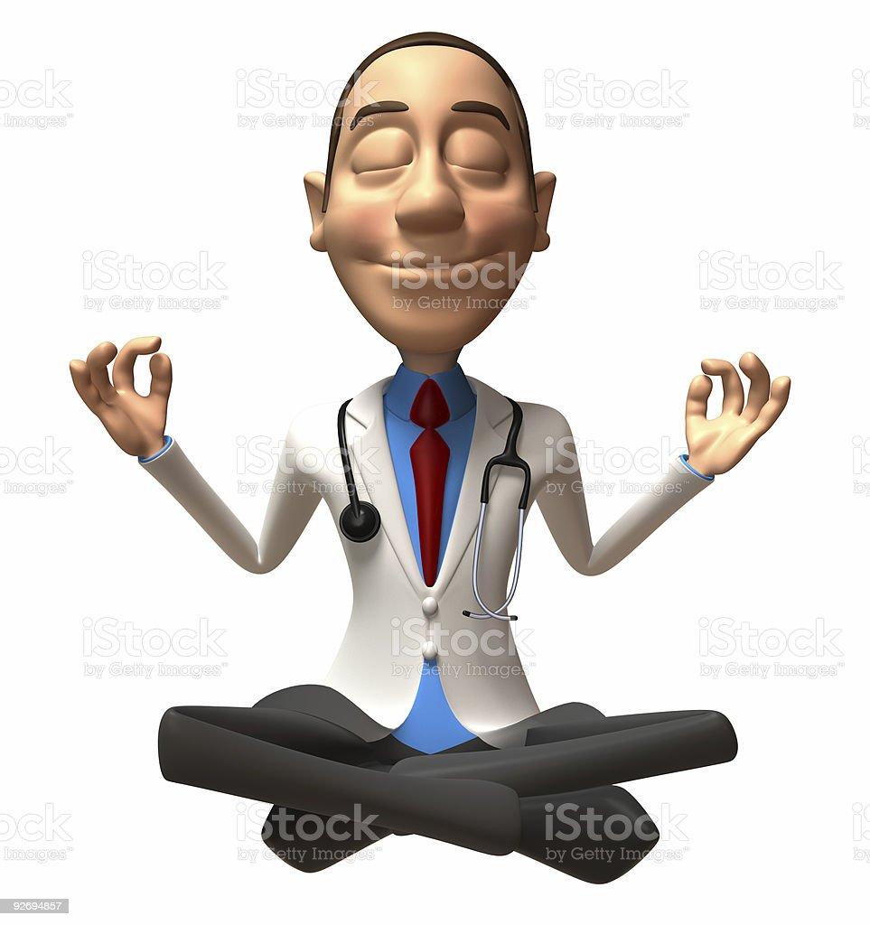 Zen doctor royalty-free stock photo