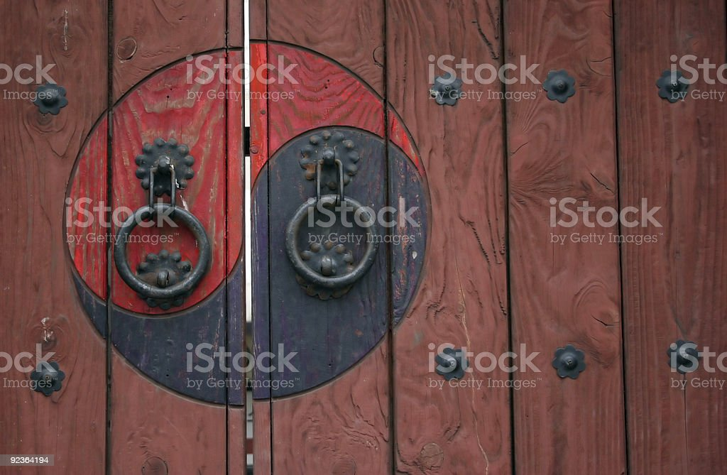 Zen door royalty-free stock photo