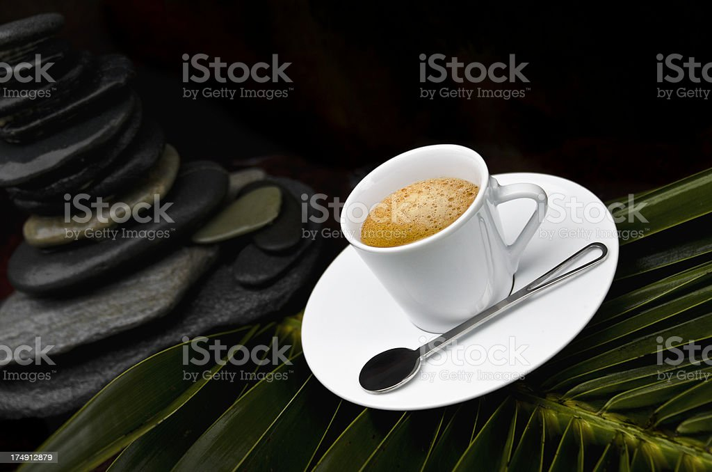 Zen Espresso Rocks royalty-free stock photo