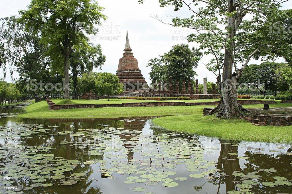 zen garden sukothai thailand royalty-free stock photo