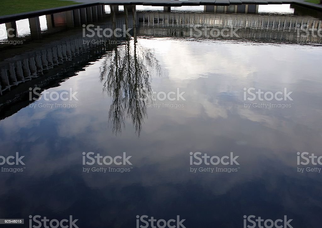 Zen Image Of Sky Reflection royalty-free stock photo