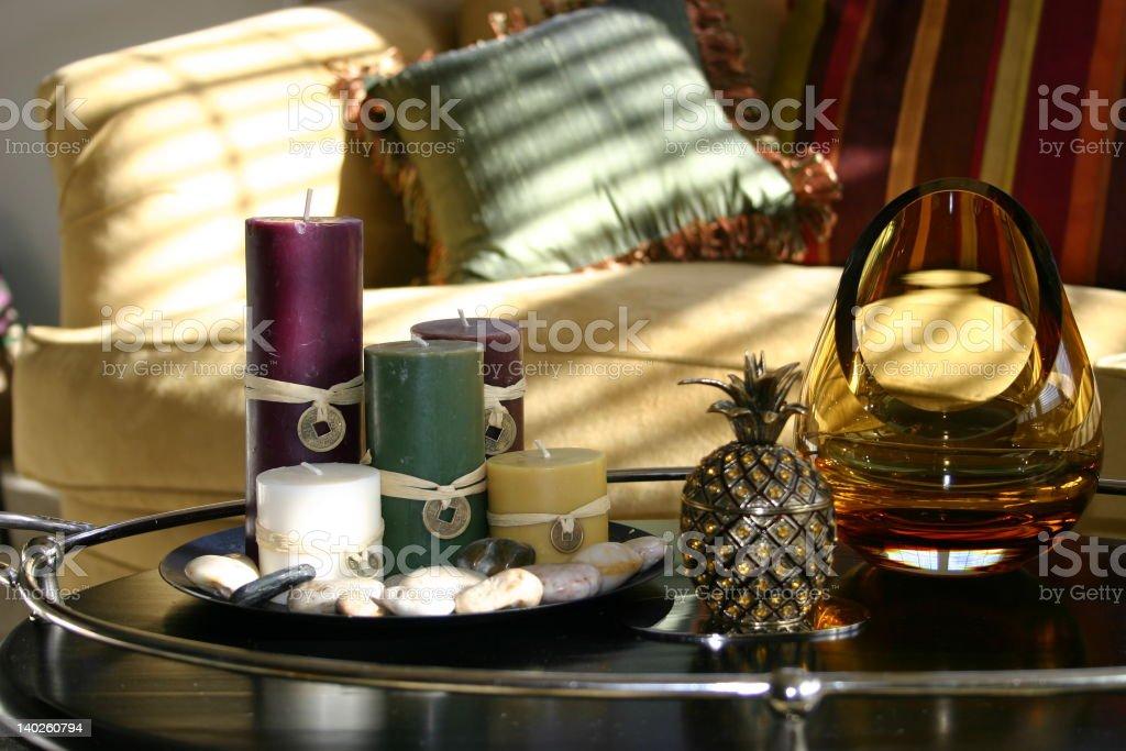 Zen Living Room Accessories stock photo