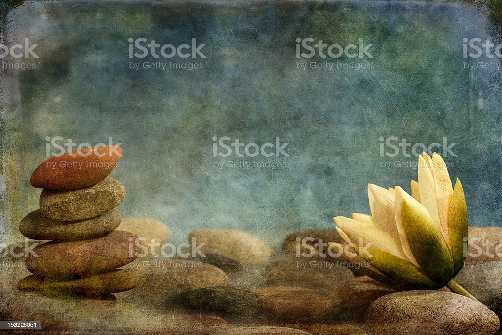 Zen Lotus with Stones stock photo