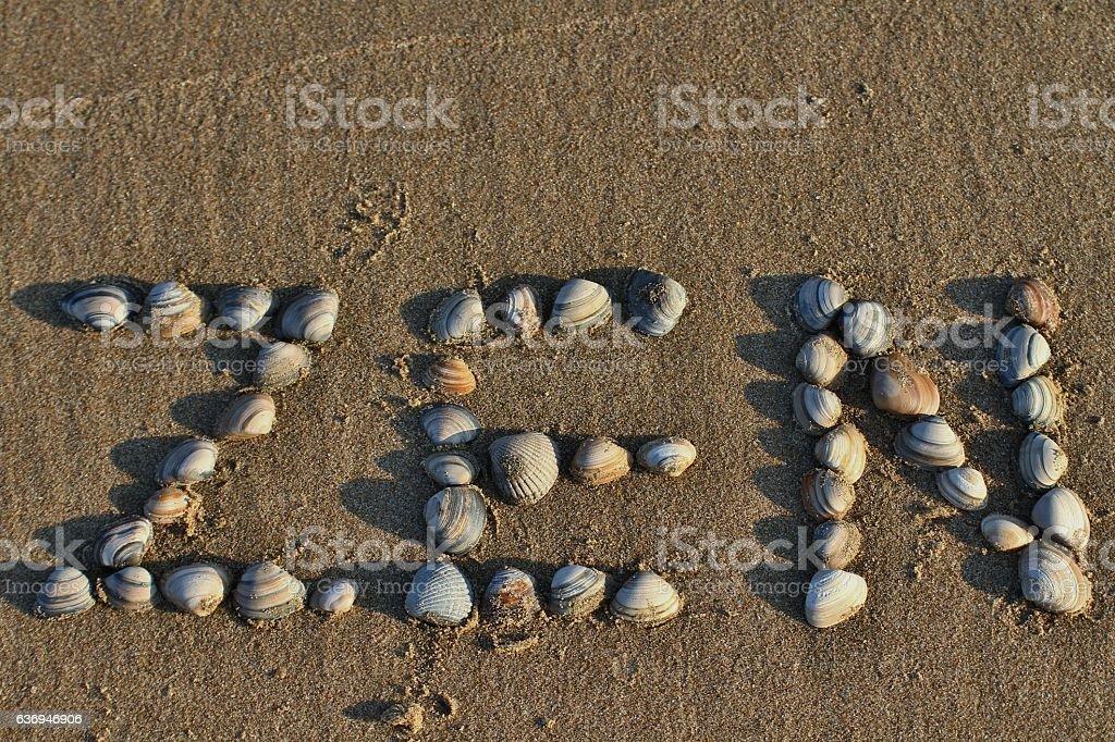 Zen mark on th ebeach stock photo