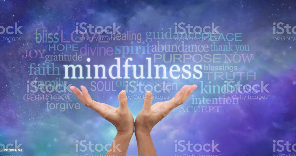 Zen Mindfulness Meditation stock photo