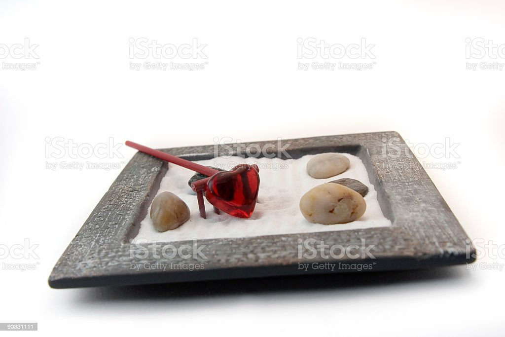 Zen playground with heart royalty-free stock photo