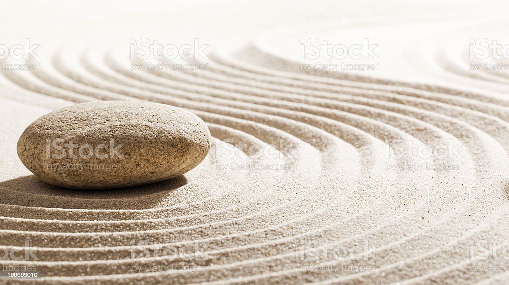 zen reflection for wellbeing royalty-free stock photo