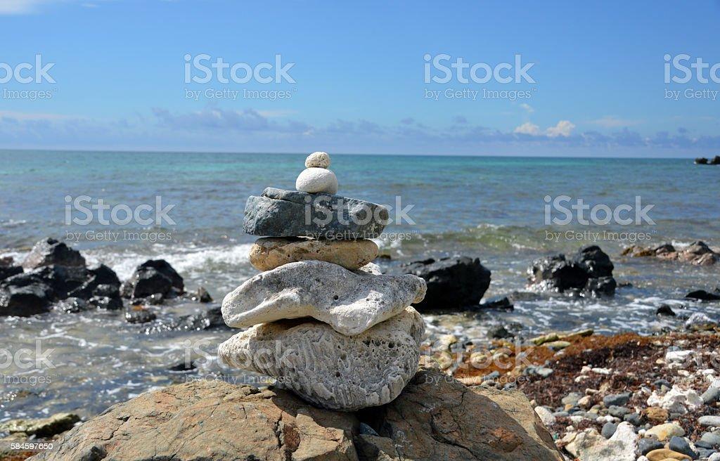 Zen rock stack (1) royalty-free stock photo