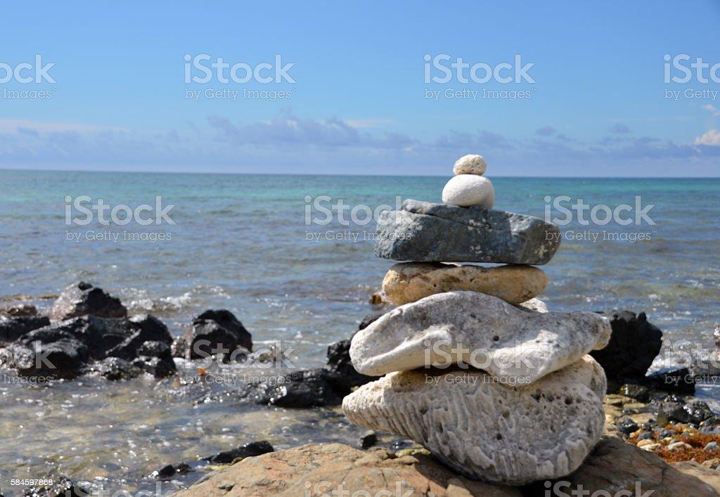 Zen rock stack (2) royalty-free stock photo
