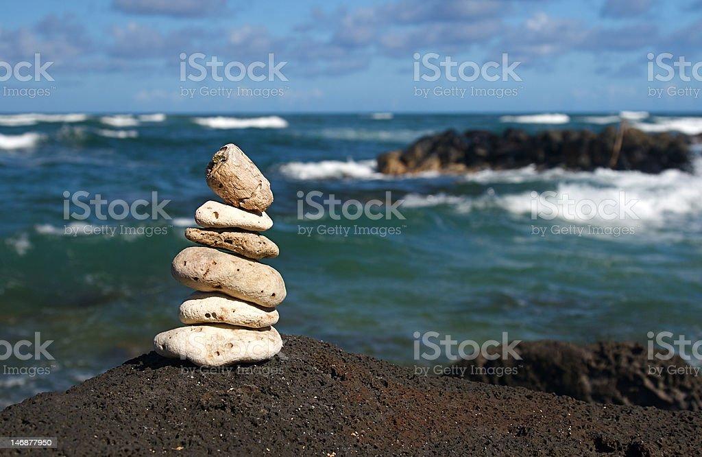 Zen Serenity Rocks royalty-free stock photo