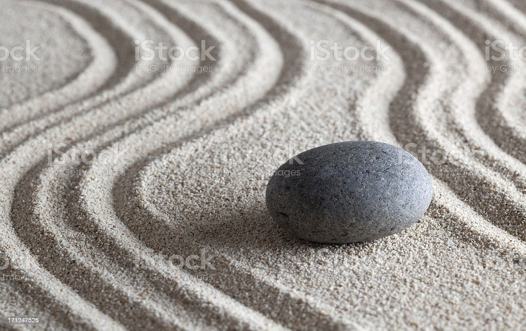 zen stone garden stock photo