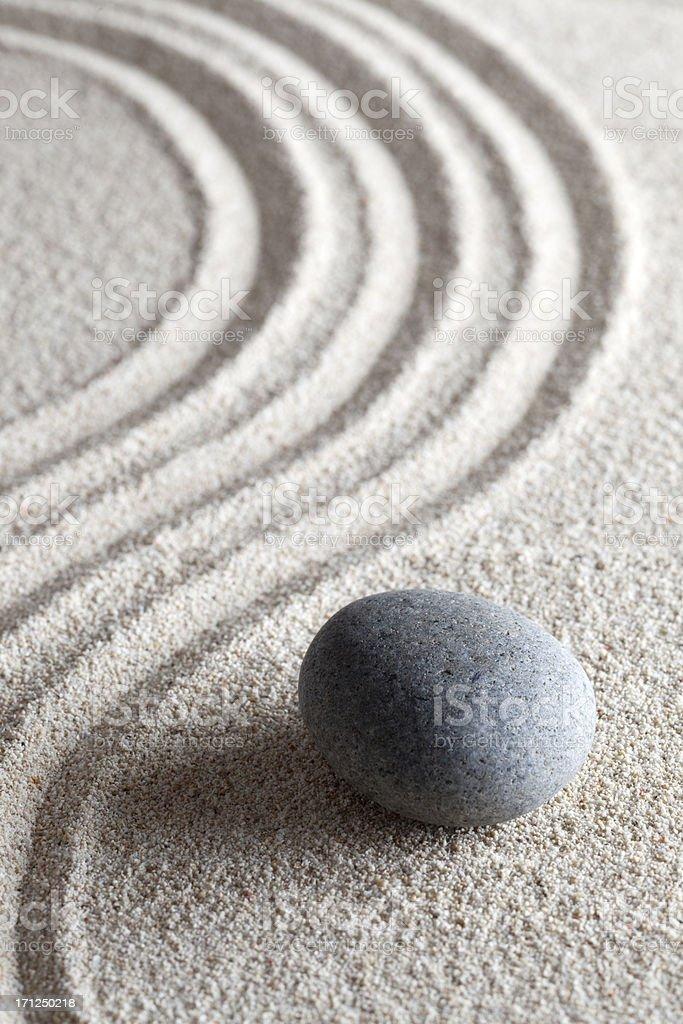 zen stone garden stock photo