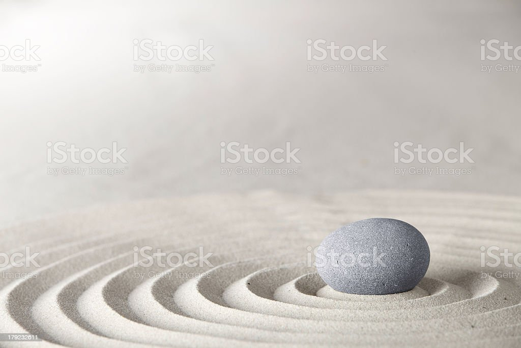 zen stone stock photo