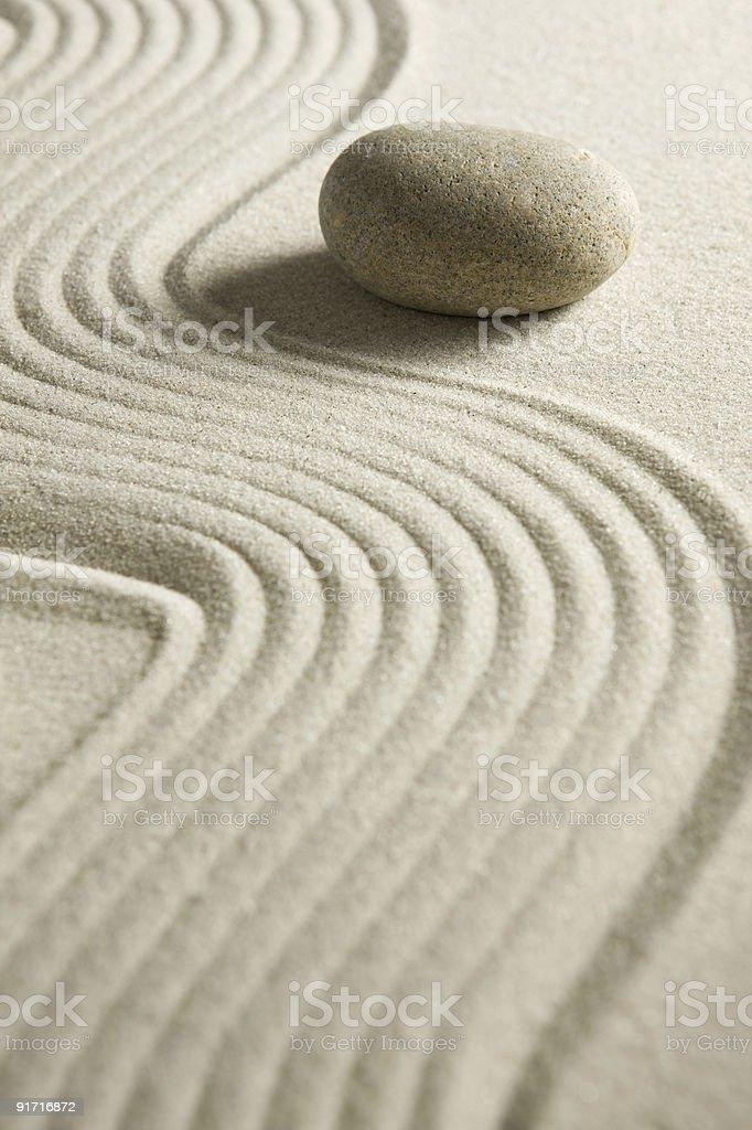 Zen stone royalty-free stock photo