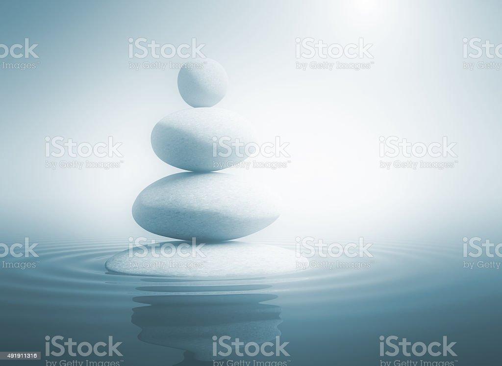 Zen stones in balance stock photo