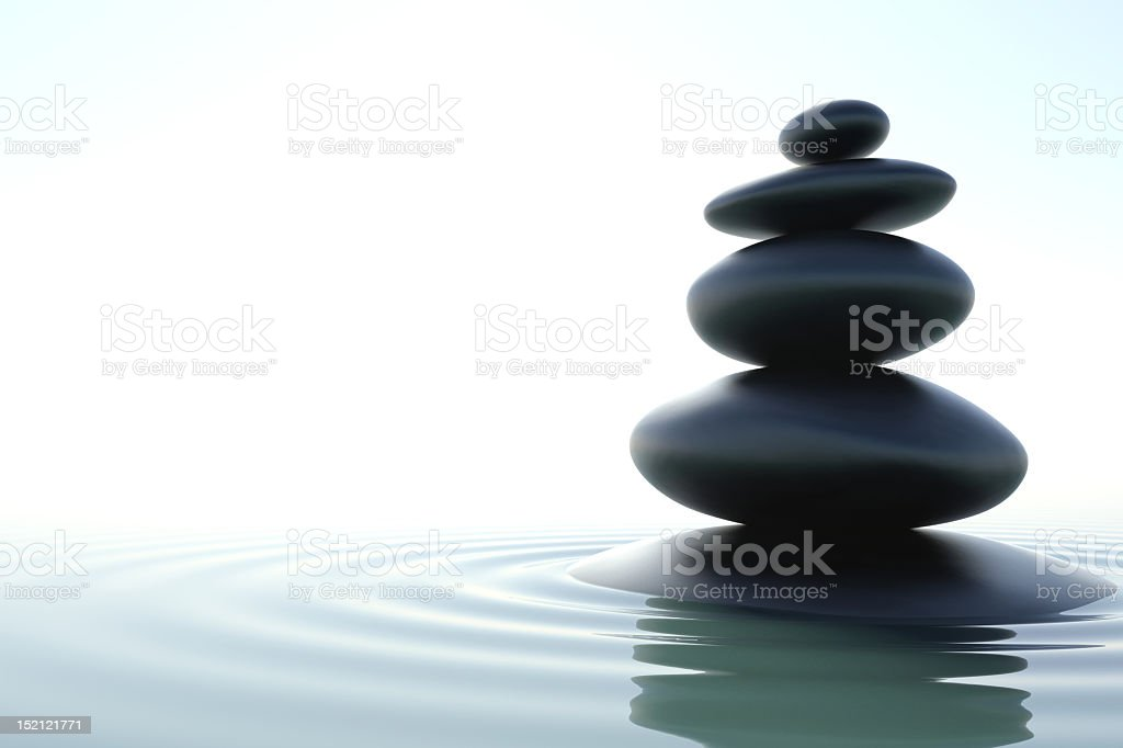Zen stones skyscraper on white background vector art illustration