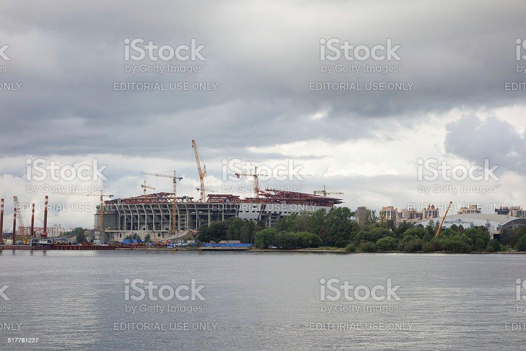Zenit Stadium in Saint Petersburg Russia stock photo