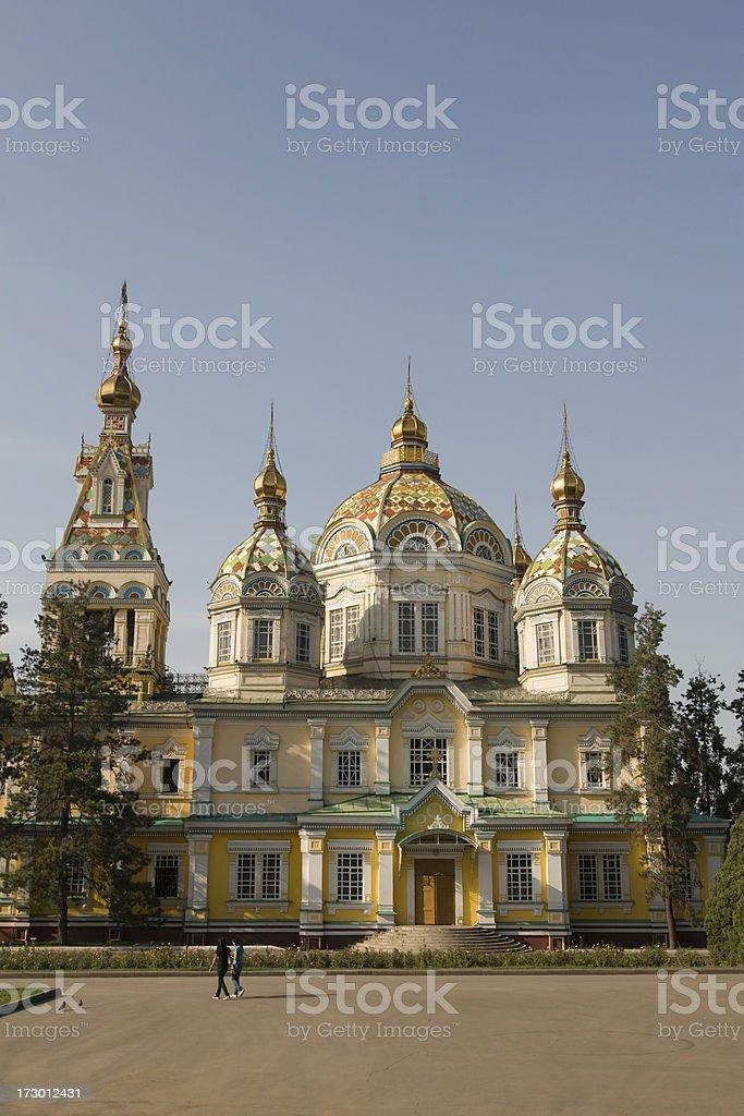 Zenkov Cathedral, Almaty stock photo