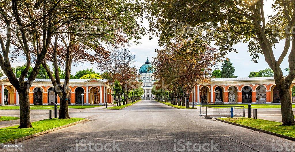 Zentralfriedhof Cemetery in Vienna, Austria stock photo
