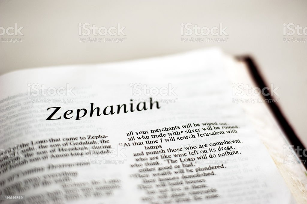 Zephaniah stock photo