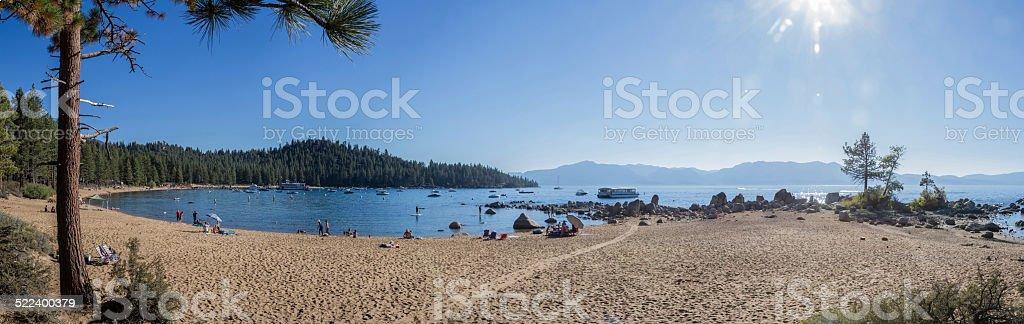 Zephyr Cove panorama stock photo