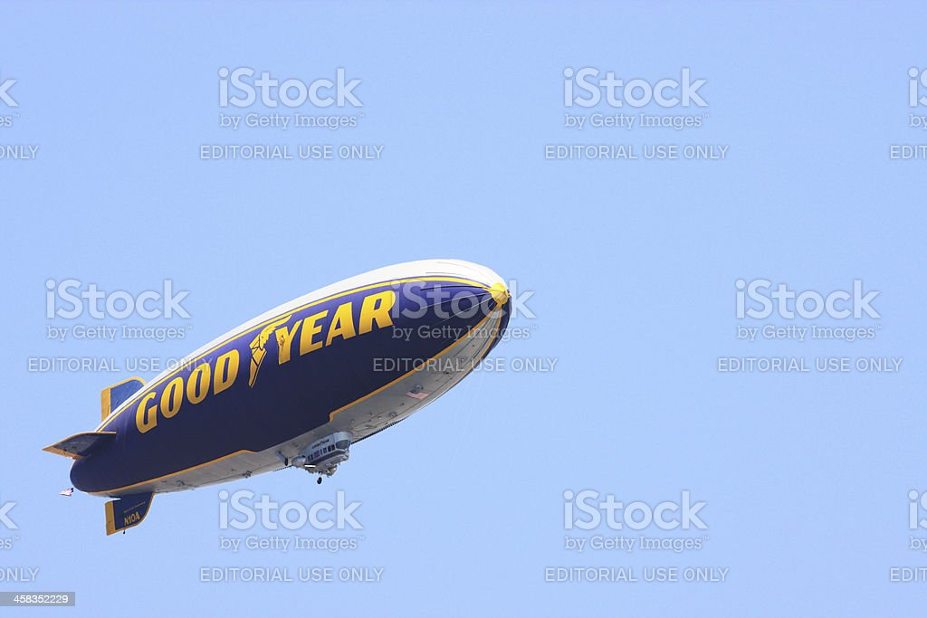 Zeppelin Goodyear Blimp Dirigible royalty-free stock photo