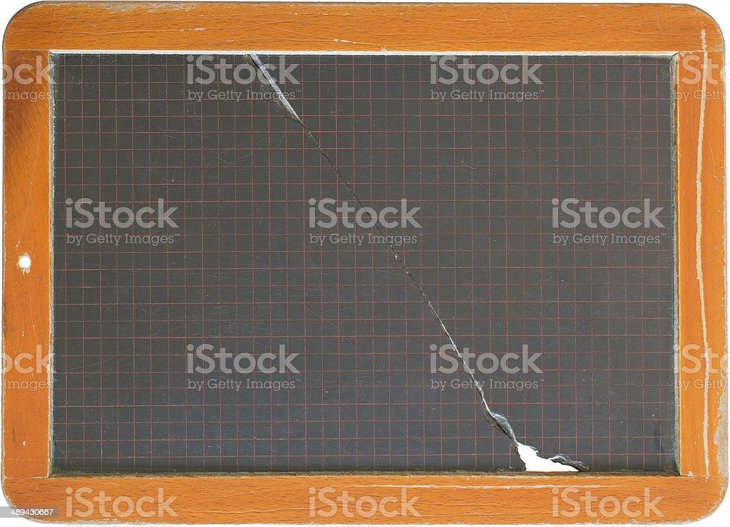 zerbrochene Schiefertafel stock photo