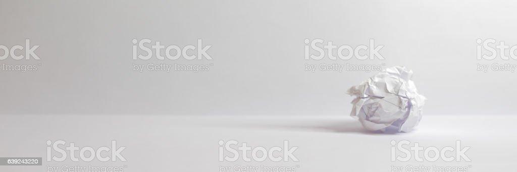 Zerknülltes Papier stock photo