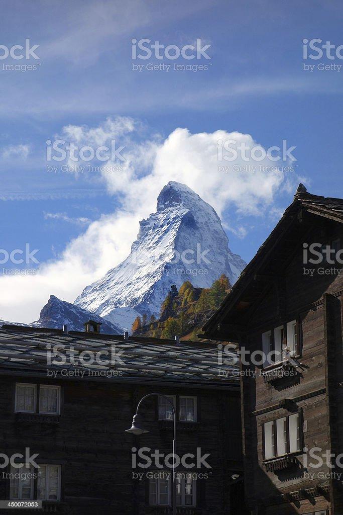 Zermatt and its Matterhorn stock photo