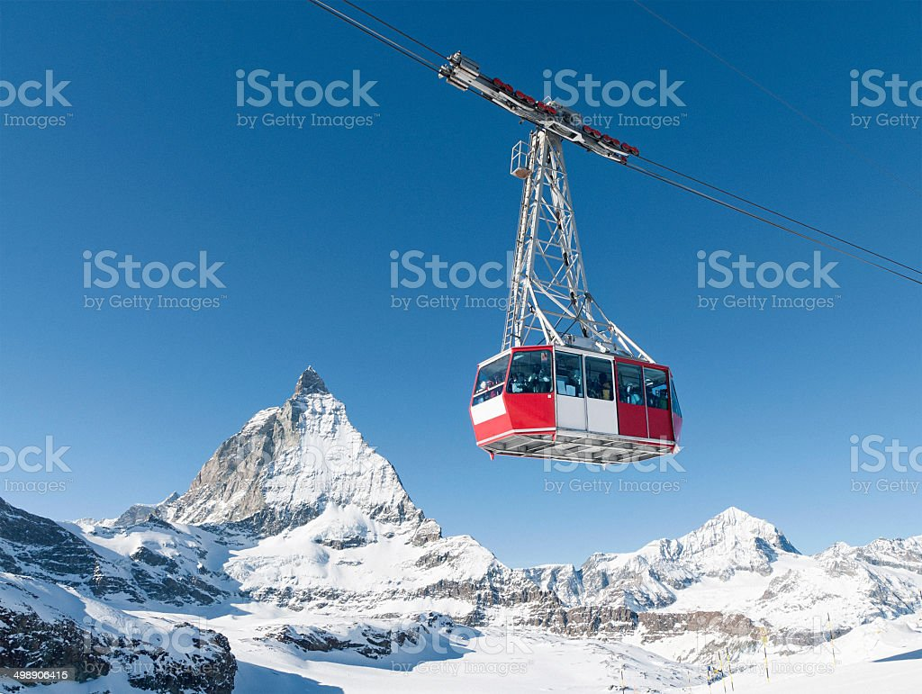 Zermatt cable car stock photo