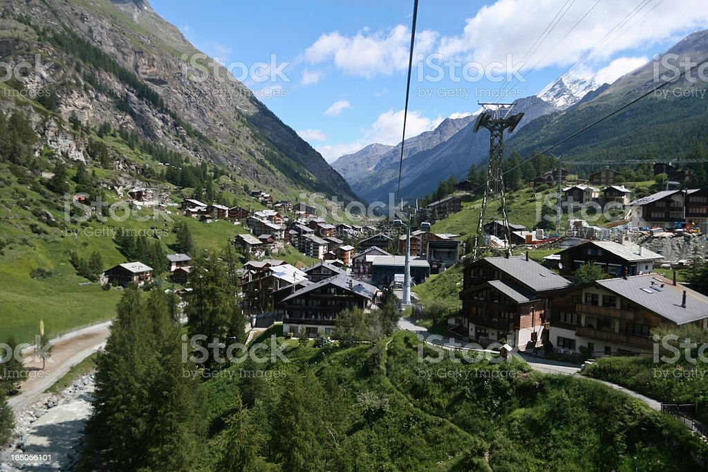 Zermatt from Cable Car royalty-free stock photo