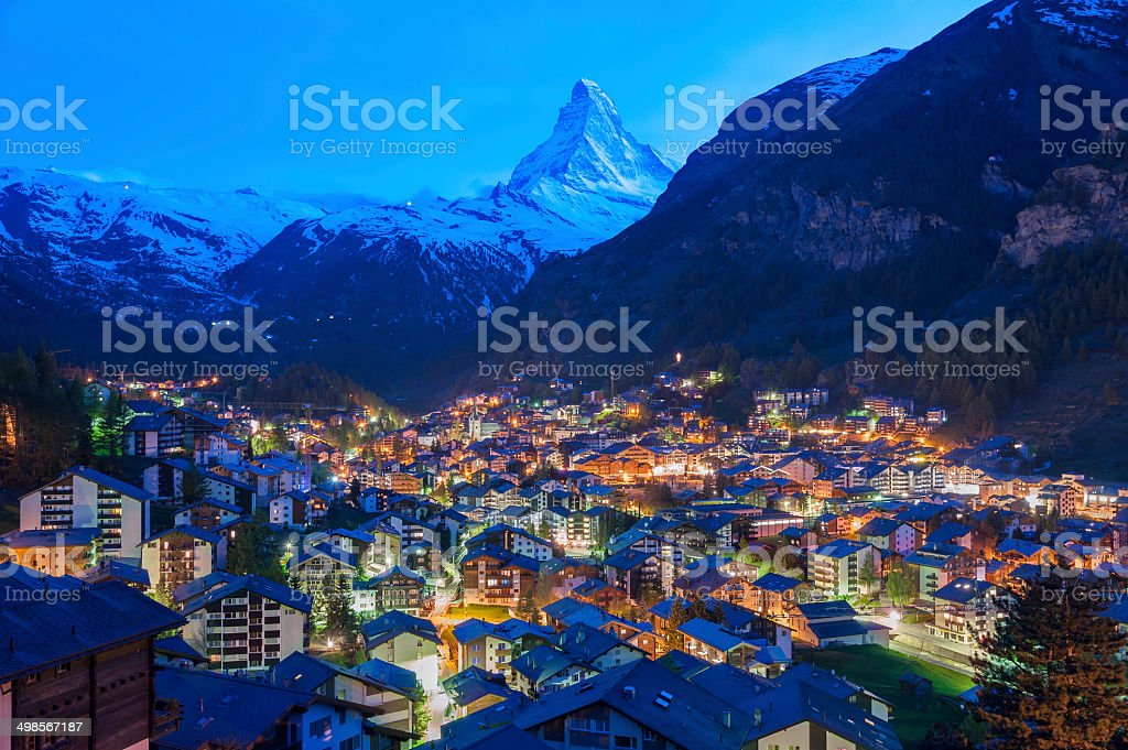 Zermatt, Switzerland stock photo