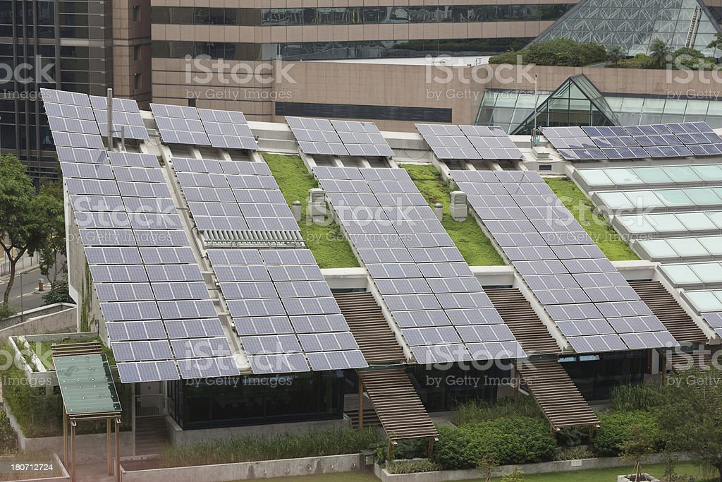 Zero Carbon Building in Hong Kong royalty-free stock photo