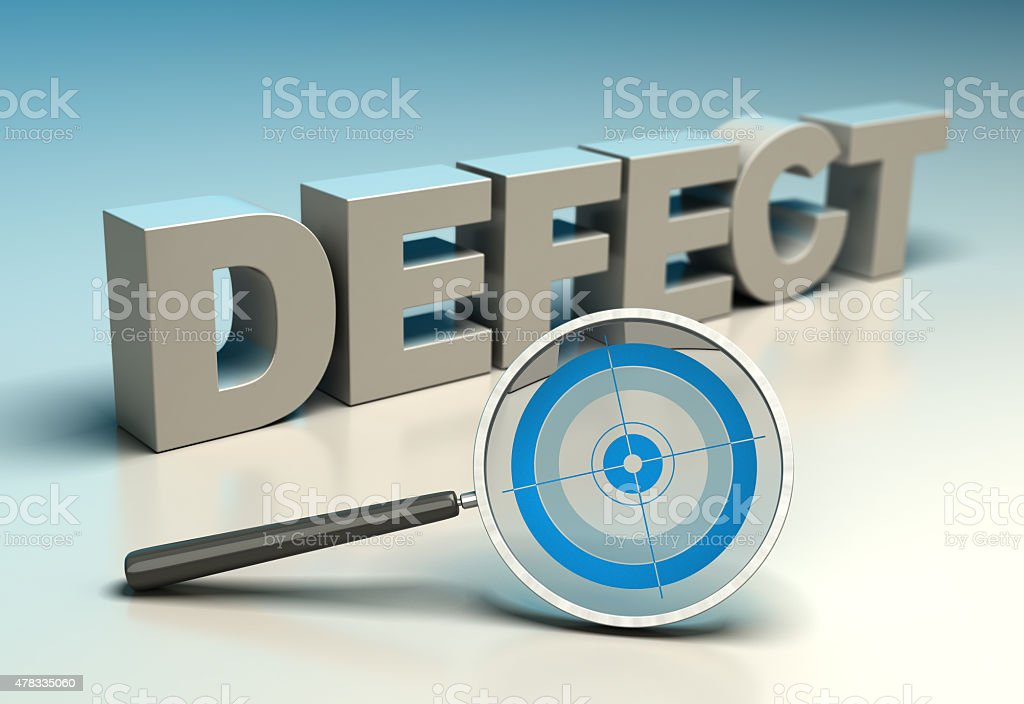 TQM - Zero Defect stock photo