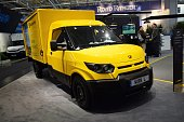 Zero emission Deutsche Post vehicle on the motor show