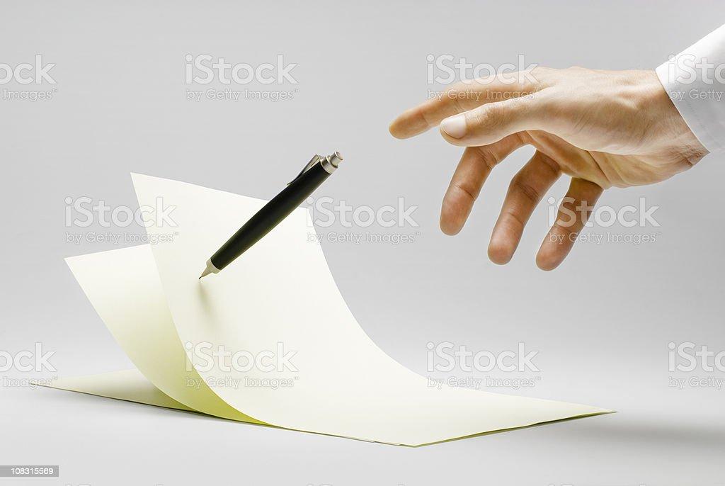 Zero Gravity Writing stock photo