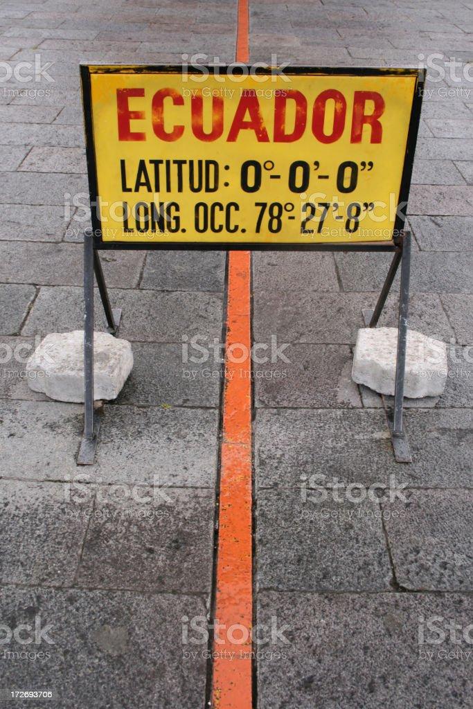 Zero latitude stock photo