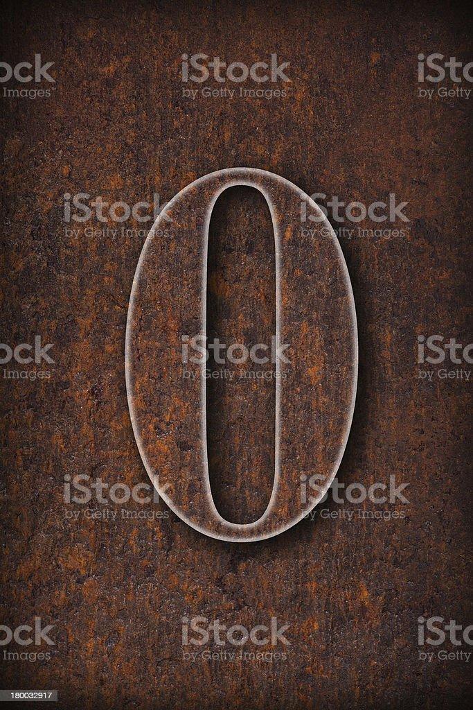 zero number royalty-free stock photo